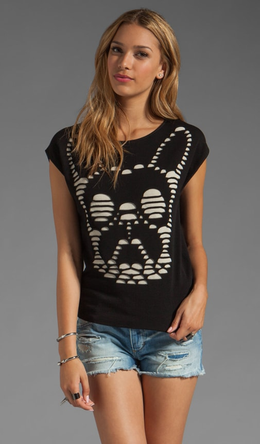 Cutout Illusion Frenchy Pullover