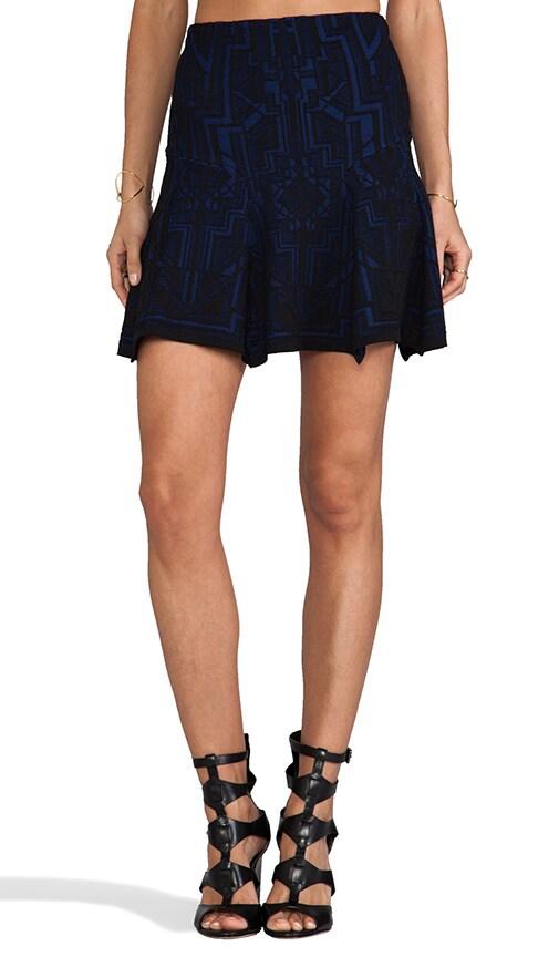 Tron Lace Jacquard Skater Skirt