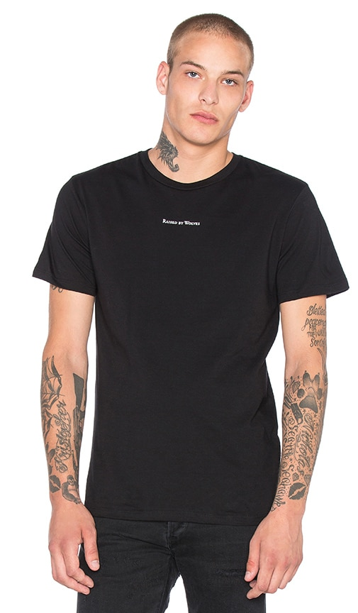 Raised by Wolves Micrologo Tee in Black