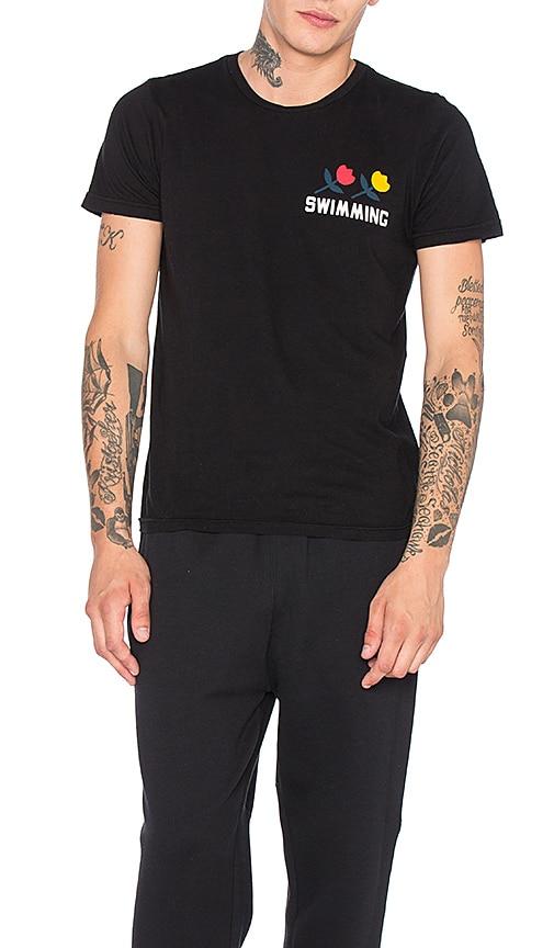 Rxmance Swimming Crew Tee in Black