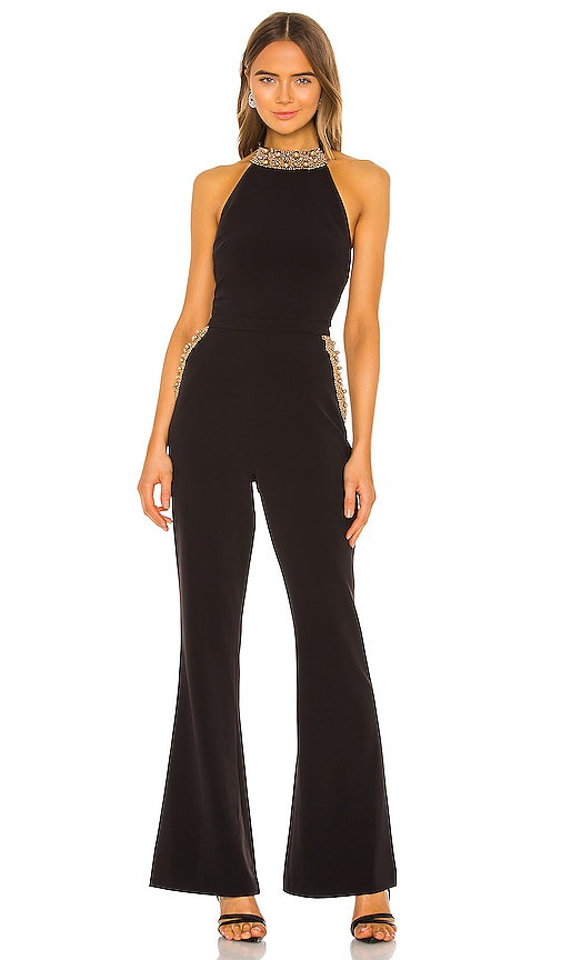 70s Jumpsuit | Disco Jumpsuits, Sequin Rompers RACHEL ZOE Halston Jumpsuit in Black. - size 4 also in 02 $167.00 AT vintagedancer.com