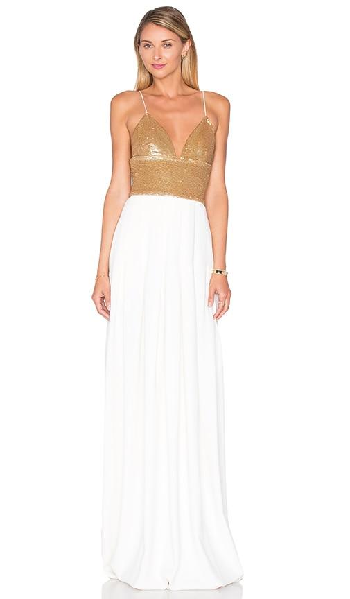 RACHEL ZOE Emerson Maxi Dress in Ivory