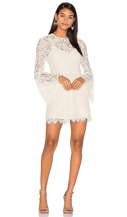 RACHEL ZOE Bell Sleeve Mini Dress in Ivory