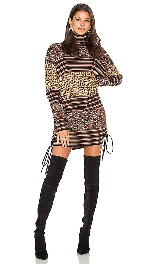 RACHEL ZOE Fran Sweater Dress in Brown