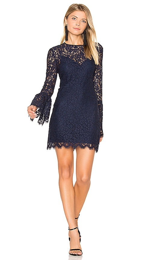 RACHEL ZOE Isla Mini Dress in Navy