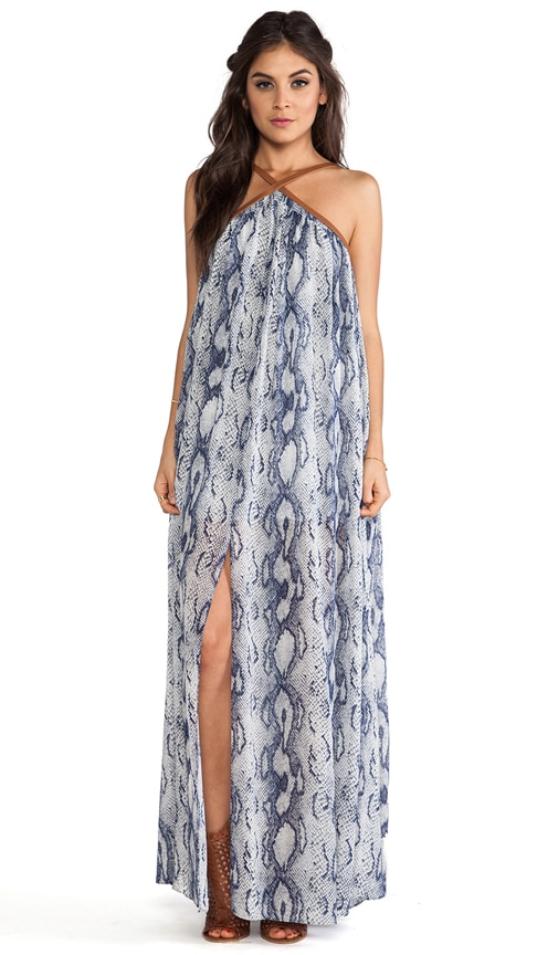 Carrigan Leather Strap Maxi Dress