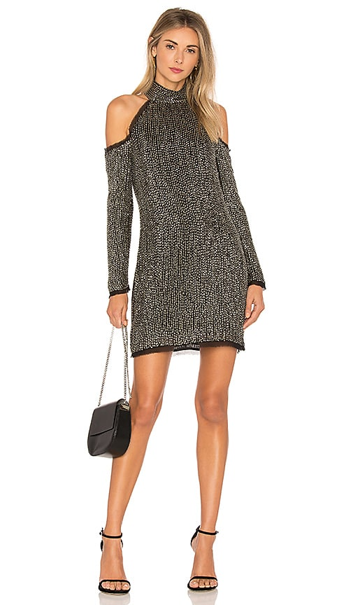 RACHEL ZOE Kipling Mini Dress in Metallic Silver
