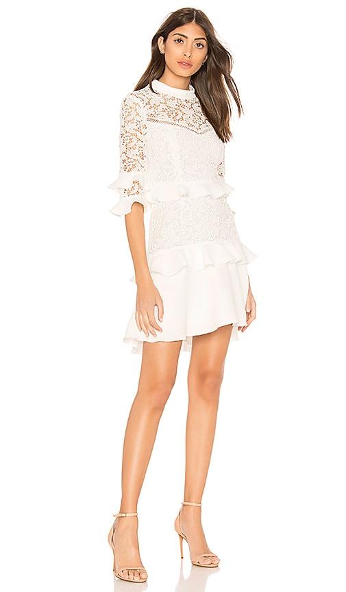 RACHEL ZOE Janina Dress in White