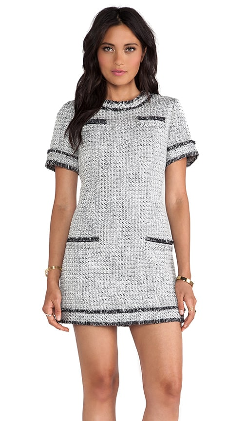 1853ee082f78 RACHEL ZOE Riley Tweed Dress in Black & Winter White | REVOLVE