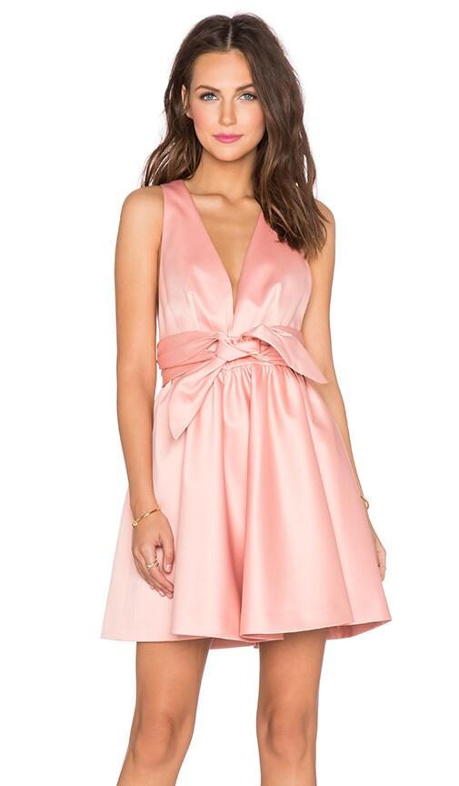 RACHEL ZOE Beck Tie Waist Dress in Rose