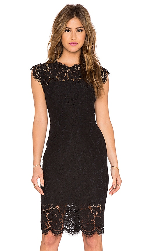 RACHEL ZOE Suzette Lace Mini Dress in Black