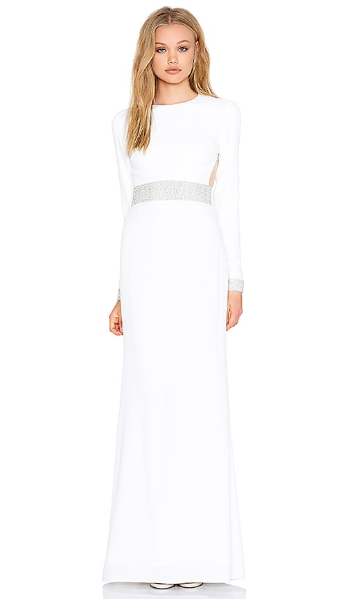 RACHEL ZOE Hewitt Back Cutout Maxi Dress in White | REVOLVE