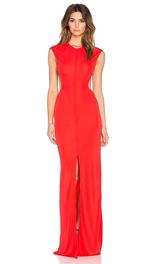 RACHEL ZOE Selma Cut Out Gown in Red | REVOLVE
