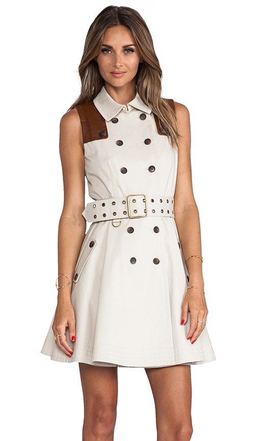Gable Sleeveless Trench Dress