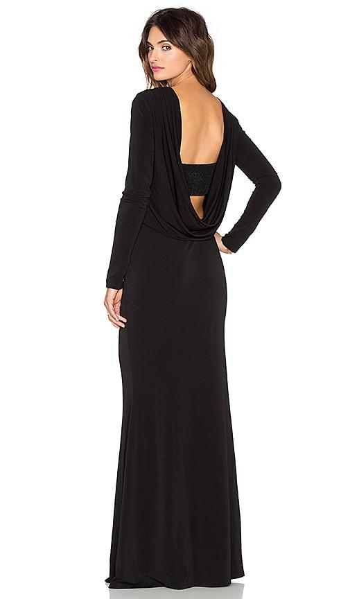 RACHEL ZOE Maurie Maxi Dress in Black