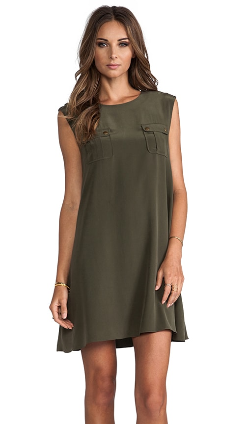 Maribelle Sleeveless Safari Dress