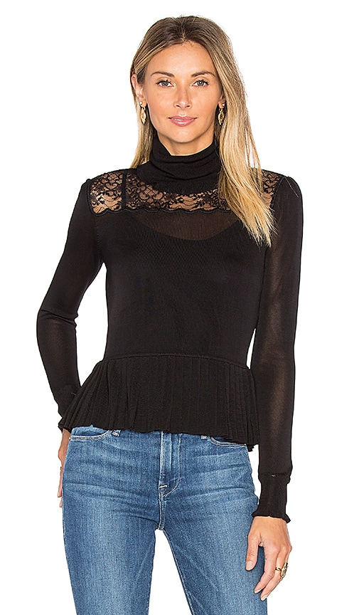 RACHEL ZOE Marge Sweater in Black