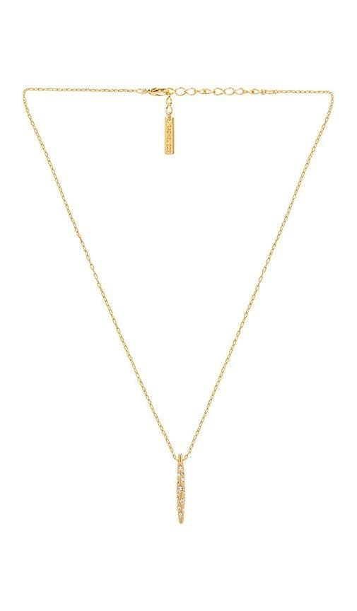 Mini Pave Quill Drop Necklace