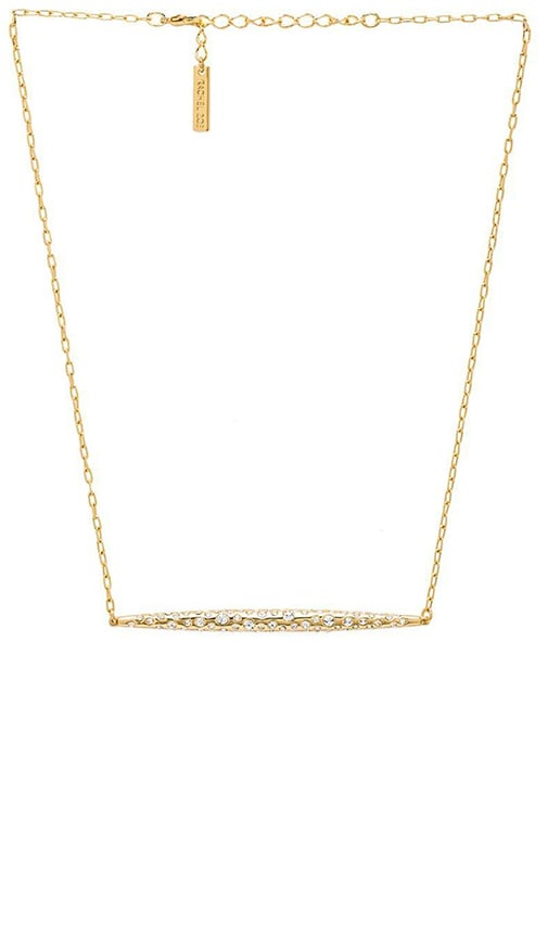 Large Quill Pave Bar Necklace