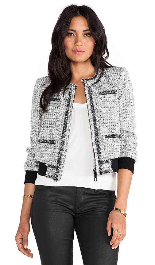 Renata Tweed Bomber Jacket
