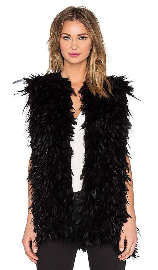 RACHEL ZOE Sagely Vest in Black