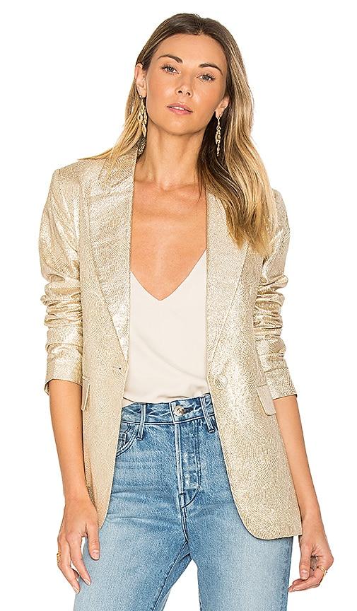 RACHEL ZOE Sadie Blazer in Metallic Gold