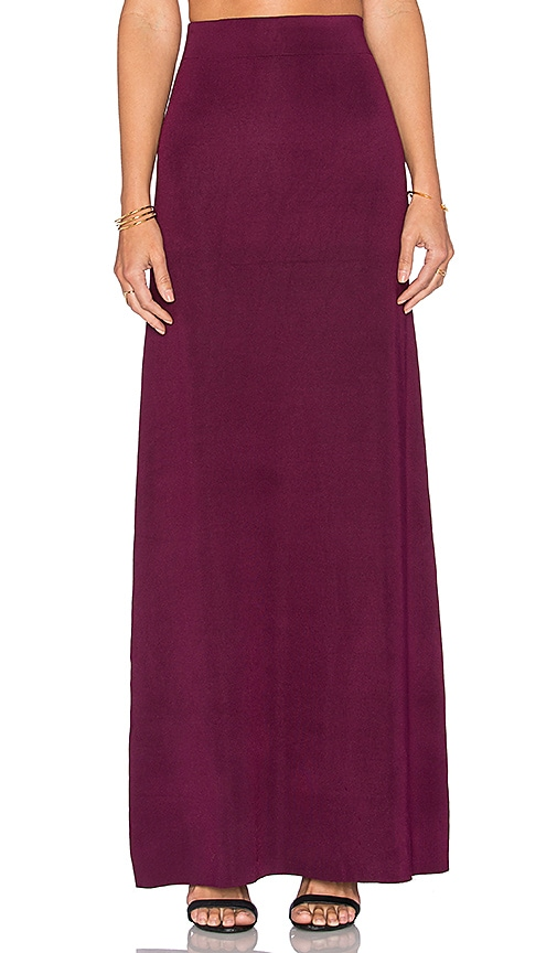 RACHEL ZOE Ruth Maxi Skirt in Plum