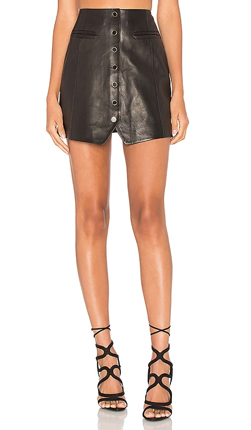 Danae Leather Skirt