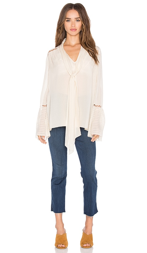 RACHEL ZOE Laurie Top in Ivory