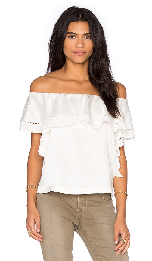 RACHEL ZOE Gaia Top in White