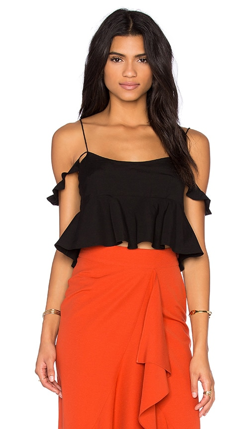 RACHEL ZOE Mariska Top in Black