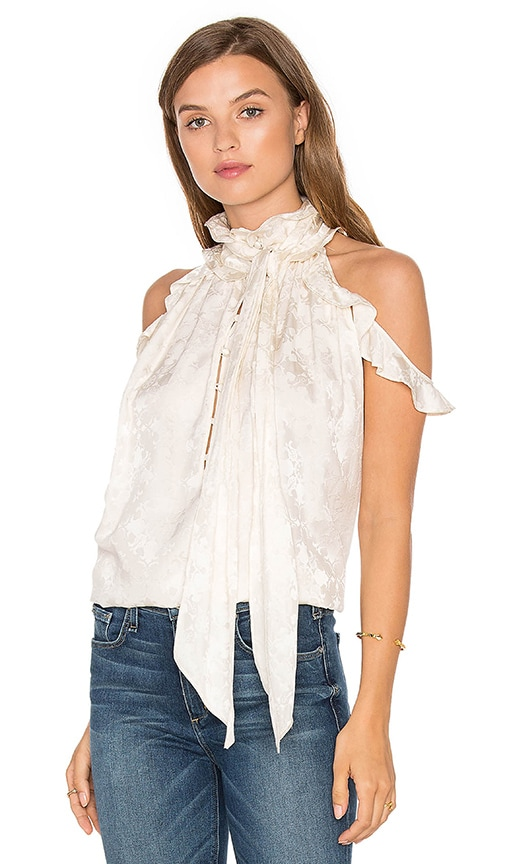 RACHEL ZOE Nashua Cold Shoulder Blouse in Ivory
