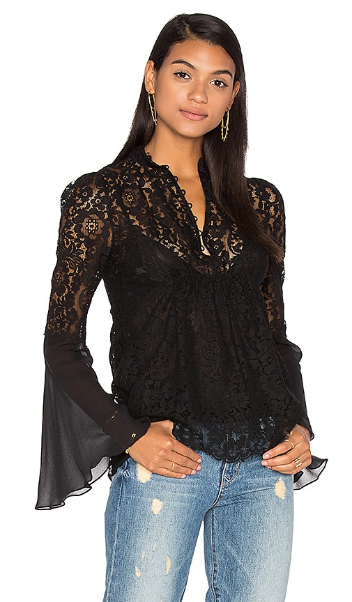 RACHEL ZOE Cynthia Blouse in Black