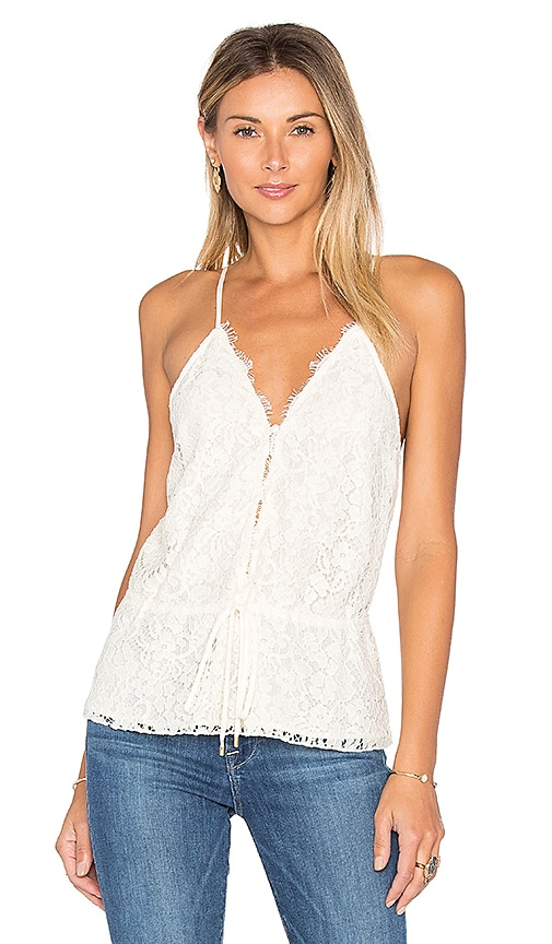 RACHEL ZOE Eloise Lace Tank in Cream