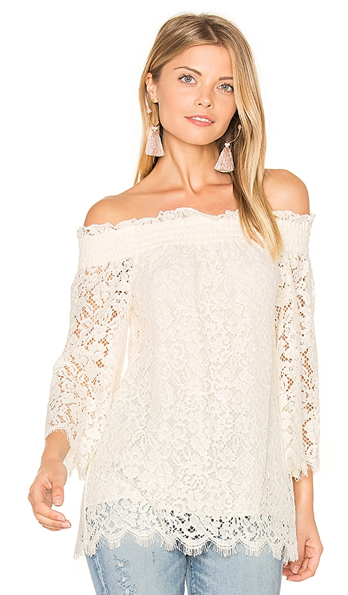 RACHEL ZOE Lynn Blouse in White