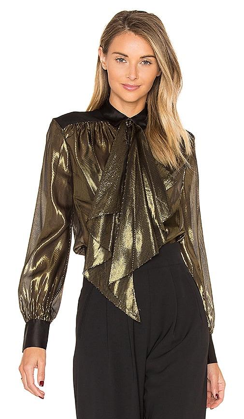 RACHEL ZOE Jaelyn Blouse in Metallic Gold