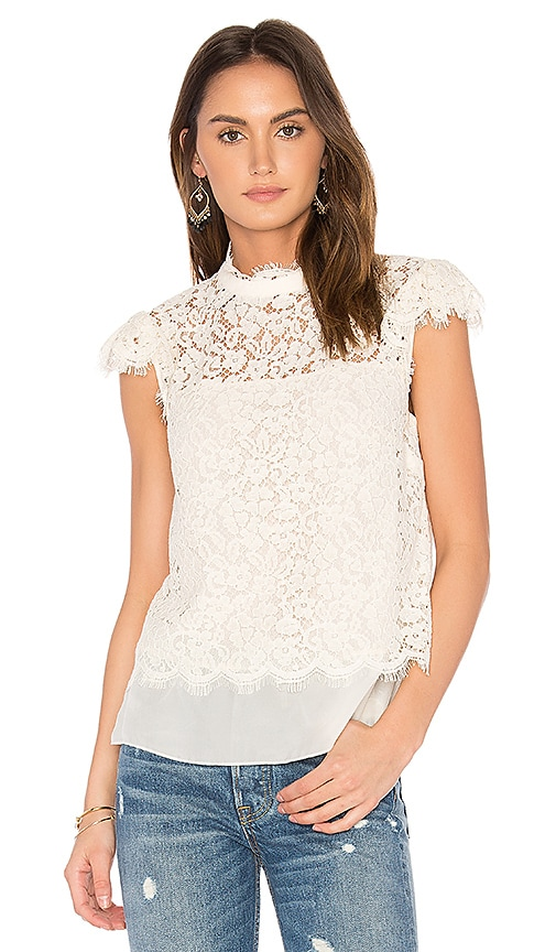 RACHEL ZOE Athens Top in Ivory
