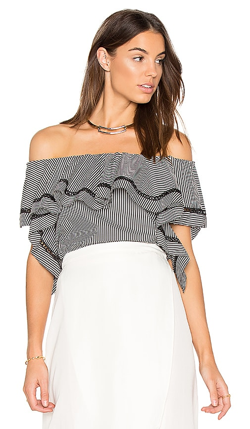 RACHEL ZOE Gaia Top in Black