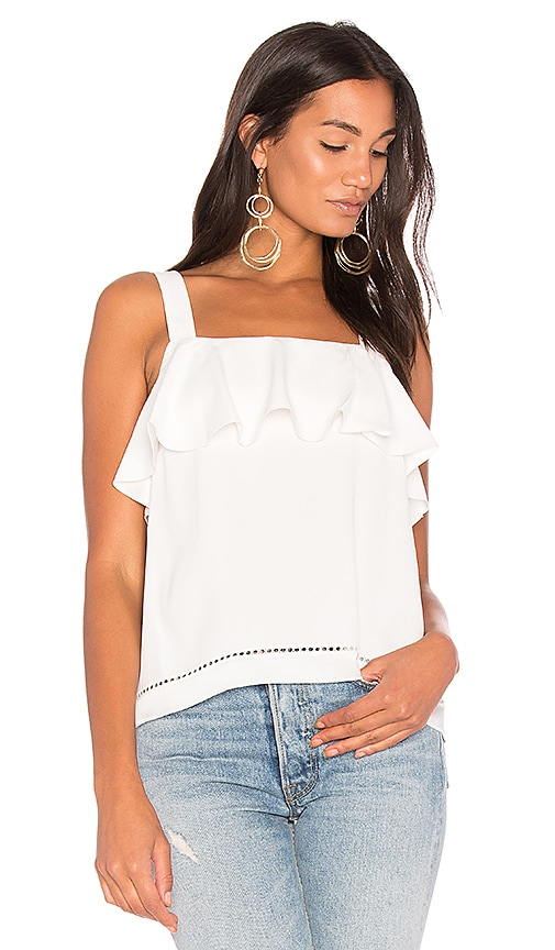 RACHEL ZOE Portland Top in White
