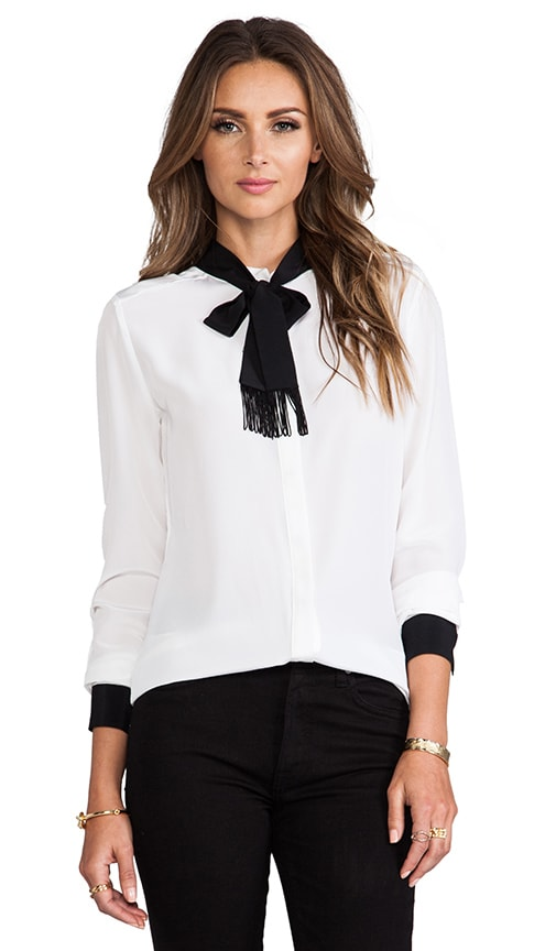 Fitted Tie Neck Blouse 47