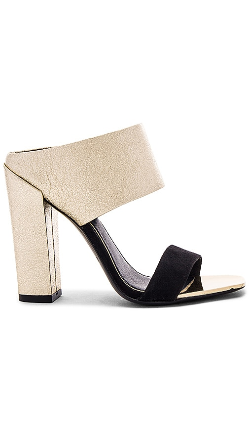 RACHEL ZOE Skyla Heel in Metallic Gold