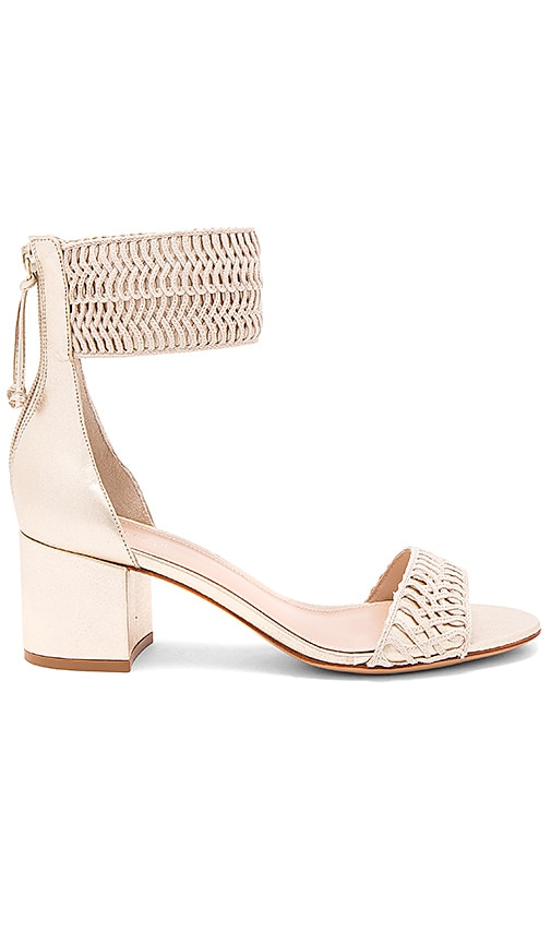 RACHEL ZOE Carrie Sandal in Metallic Gold
