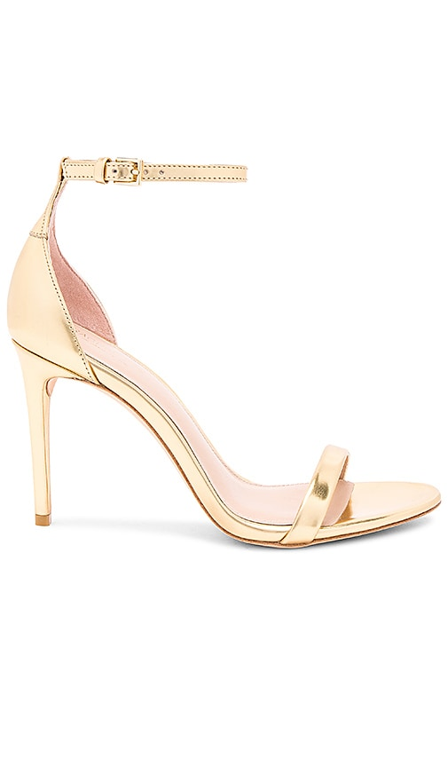 RACHEL ZOE Ema Metallic Heel in Metallic Gold