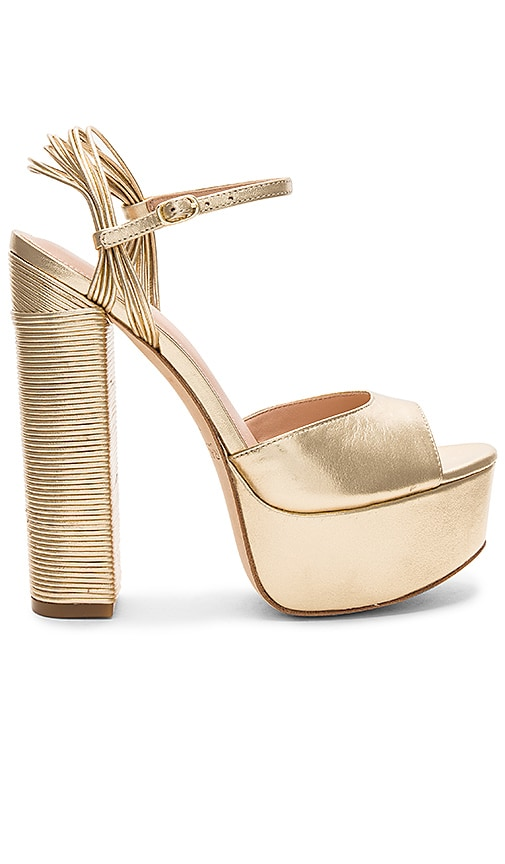 RACHEL ZOE Willow Platform Heel in Metallic Gold