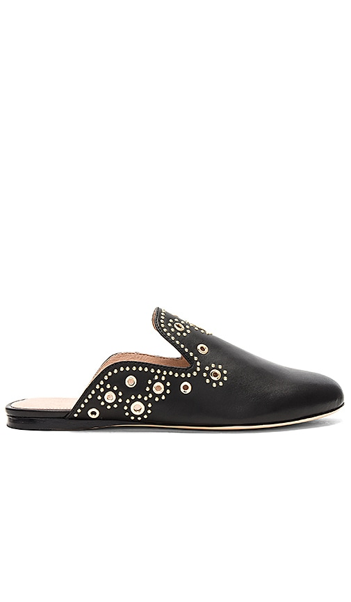 RACHEL ZOE Grace Eyelet Flat in Black