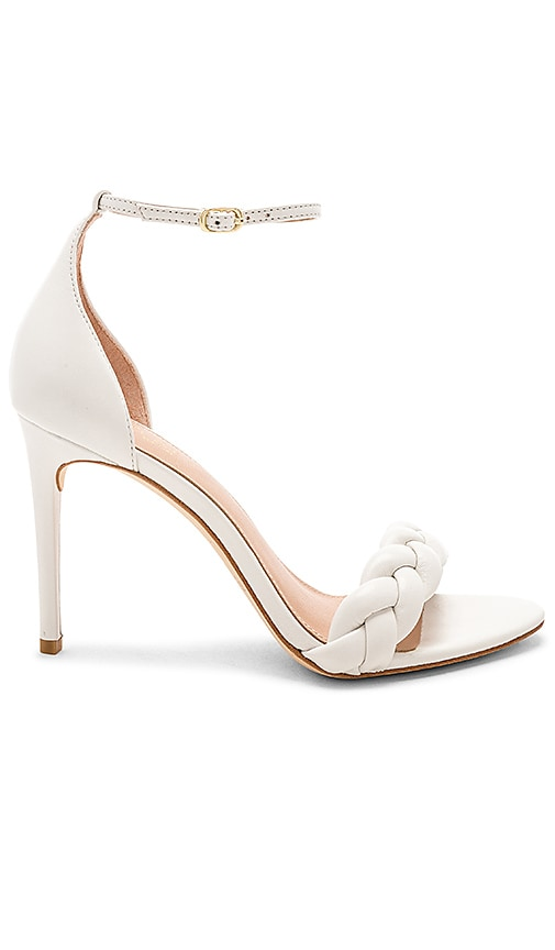 RACHEL ZOE Ashton Braid Sandal in White
