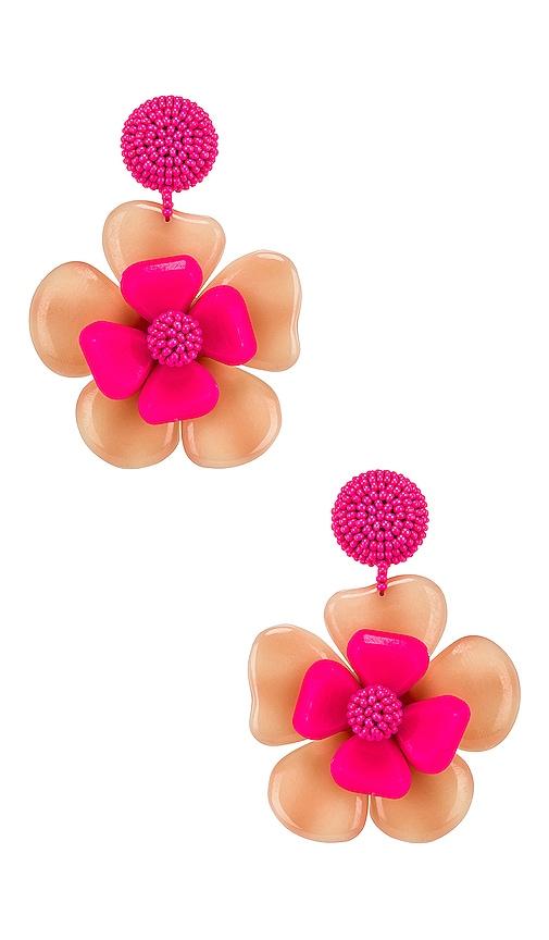 Horn Flower Earrings