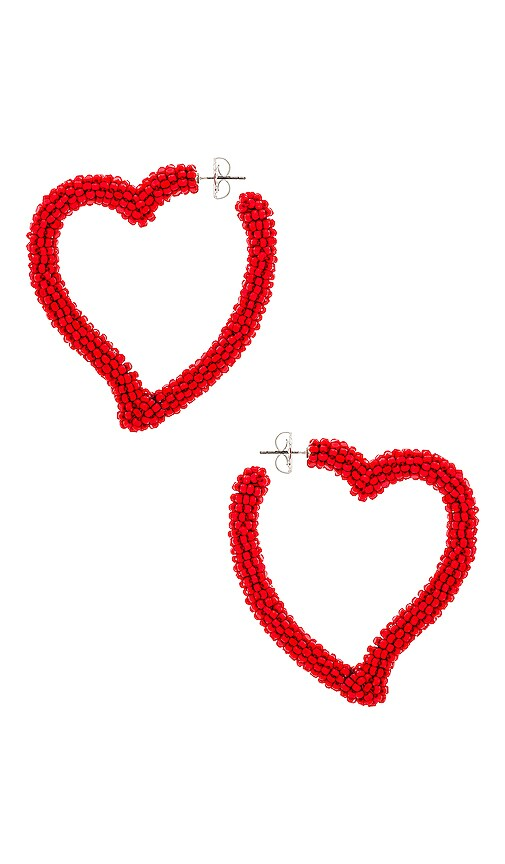 СЕРЬГИ HEART HOOP