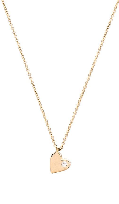 Sachi Little Girl Heart Pendant in Metallic Gold