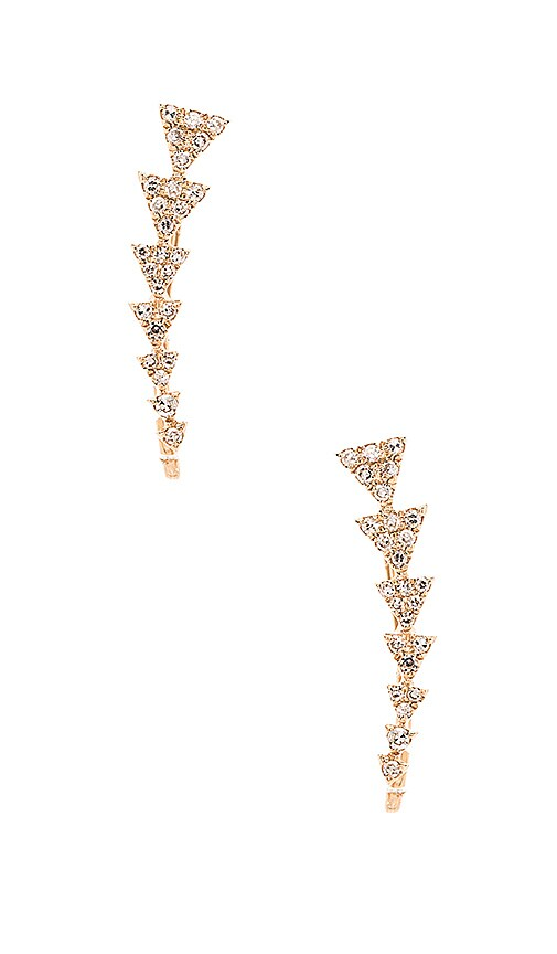 Diamond Triangle Train Ear Cuff
